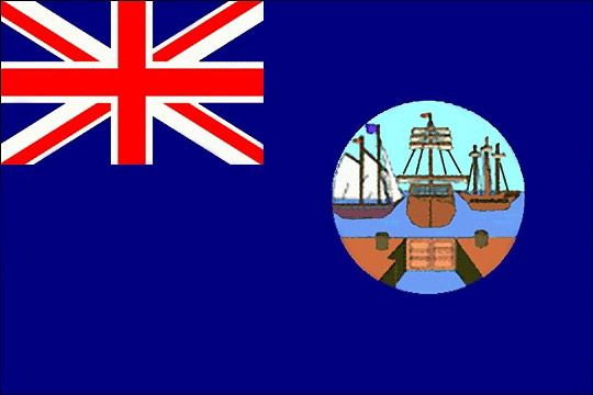 Первый вариант флага 1875 году