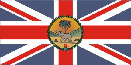 Флаг Губернатора Британской колонии Гамбия 1889 — 18 февраля 1965