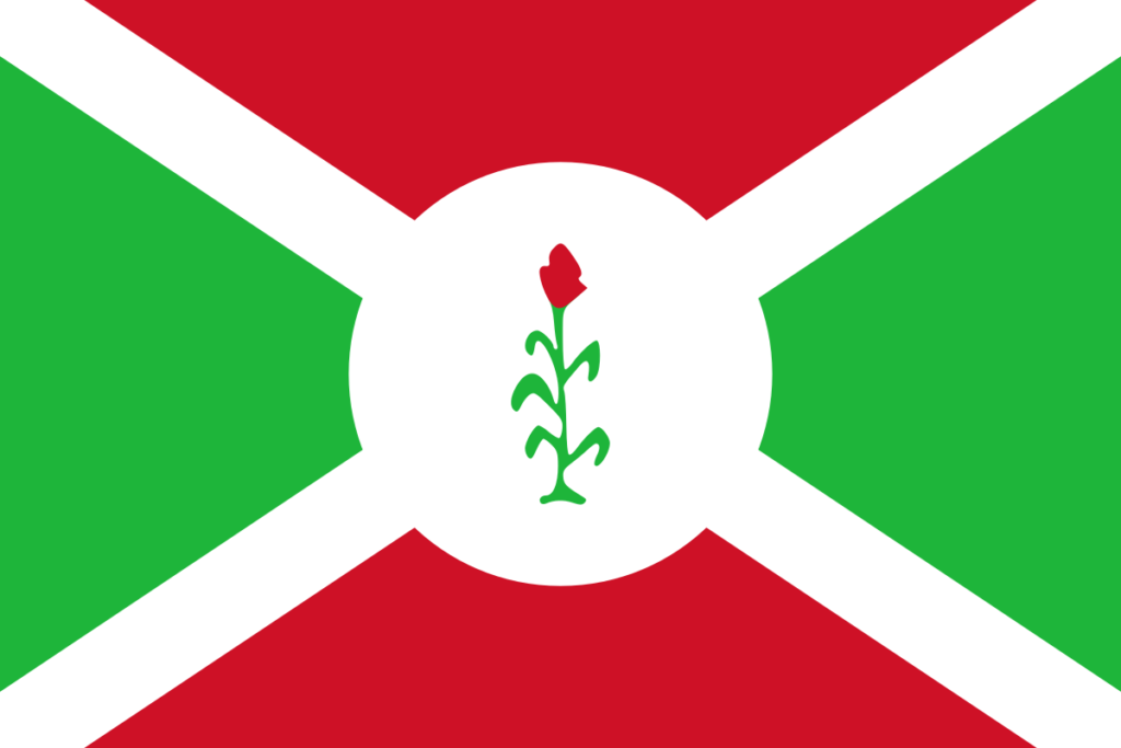 Флаг Бурунди 1966 - 1967