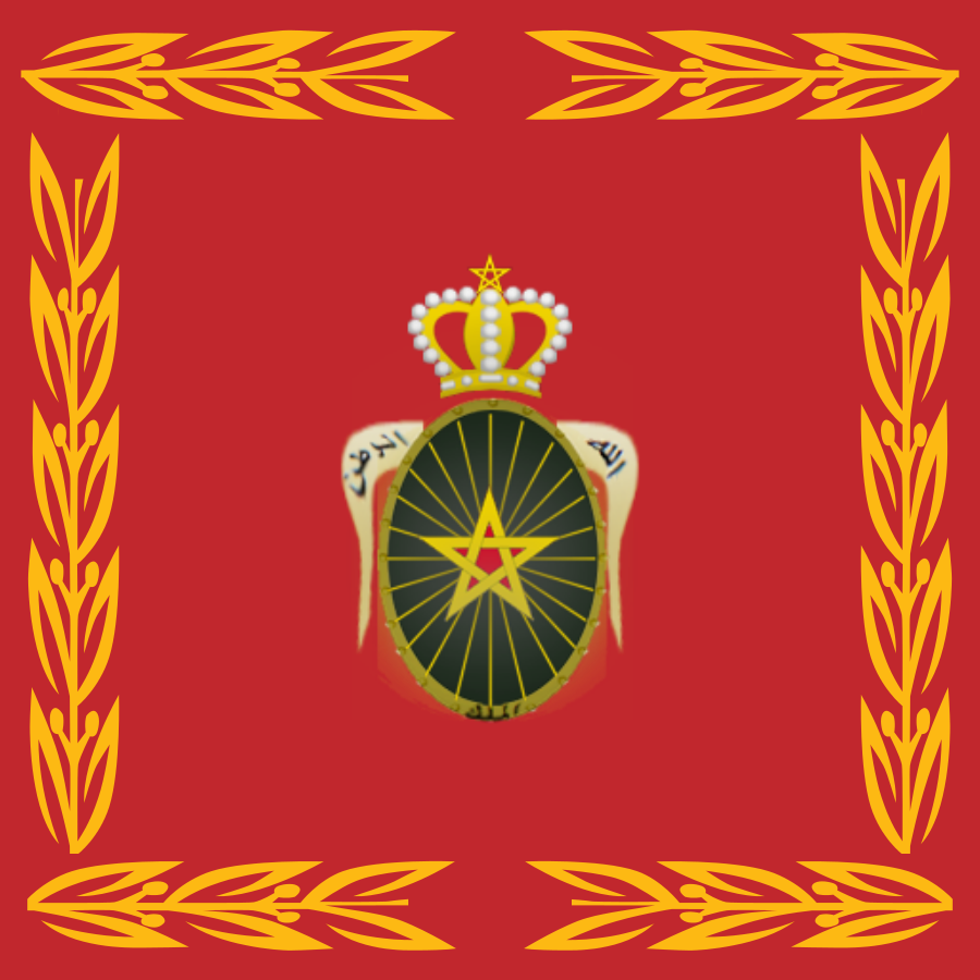 Флаг королевской армии Марокко