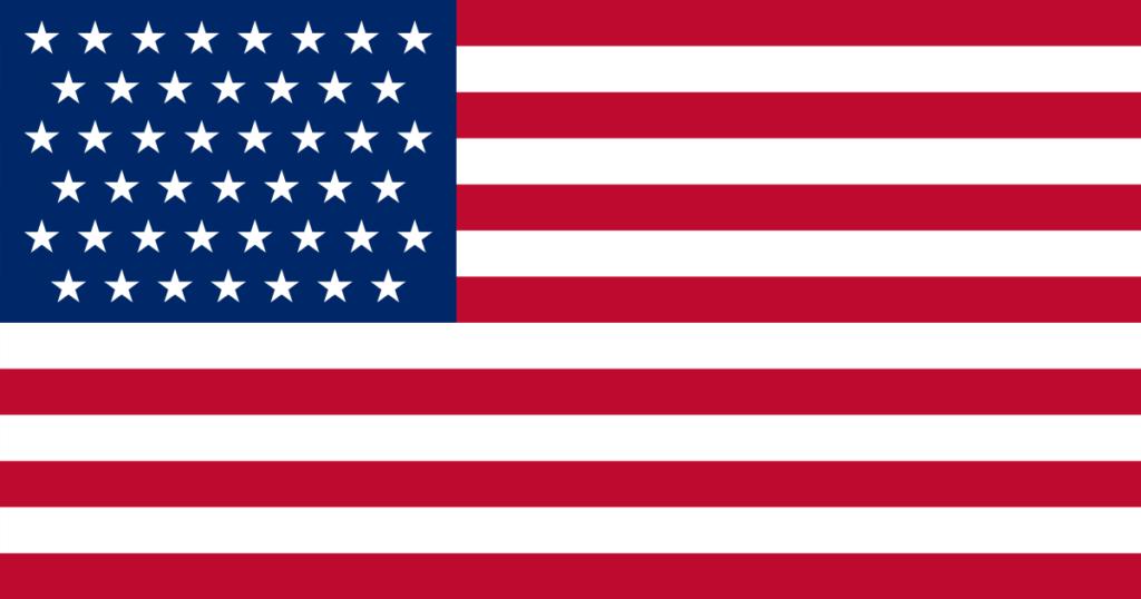 Флаг Кубы под властью США (1896–1908)