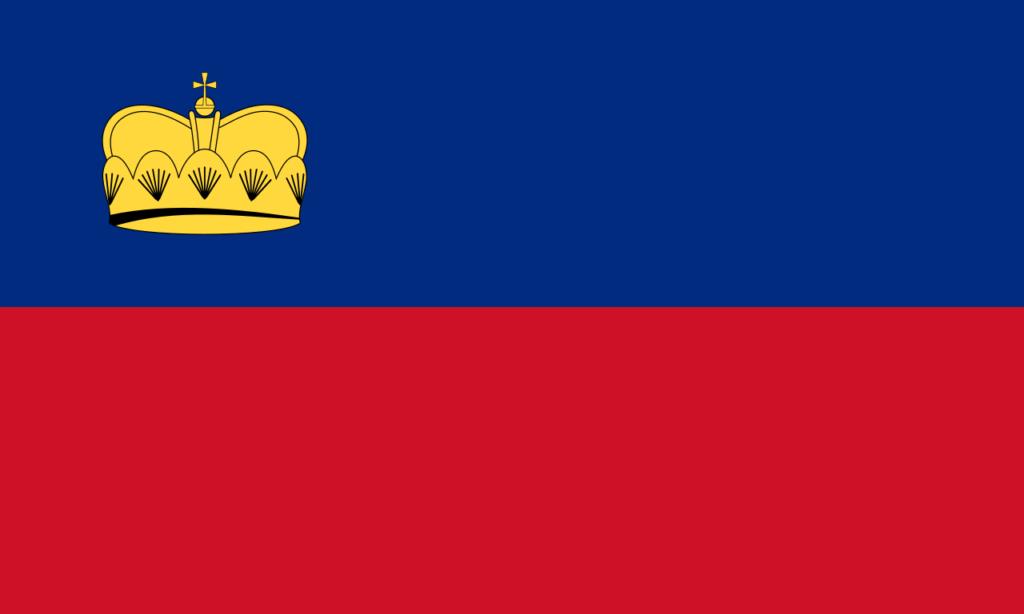 Флаг Лихтенштейна 1937—1982