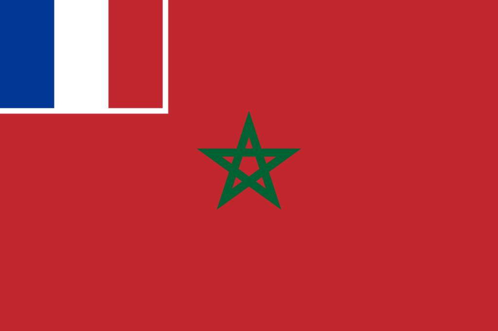 Флаг Марокко под французским протекторатом