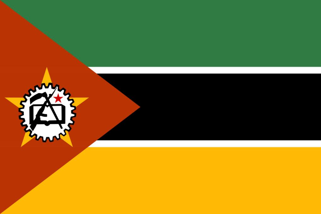 Флаг Мозамбика в апреле 1983 года