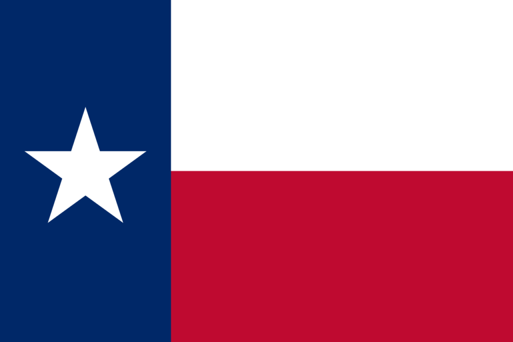 Флаг Техаса или флаг одинокой звезды