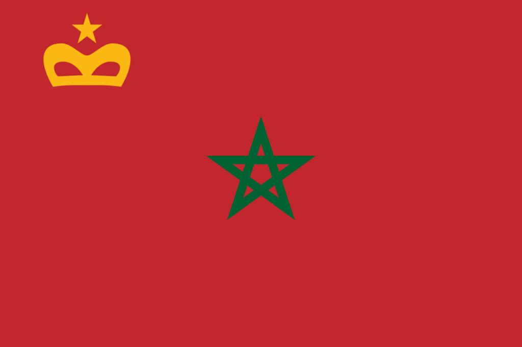 Гражданский флаг Марокко