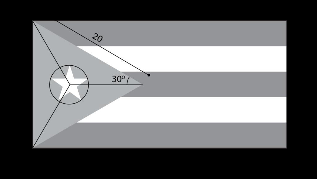 Построение флага Кубы.