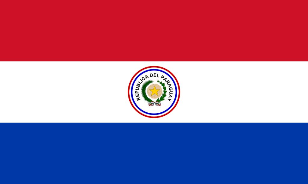 Аверс флага Парагвая (1988–1990)