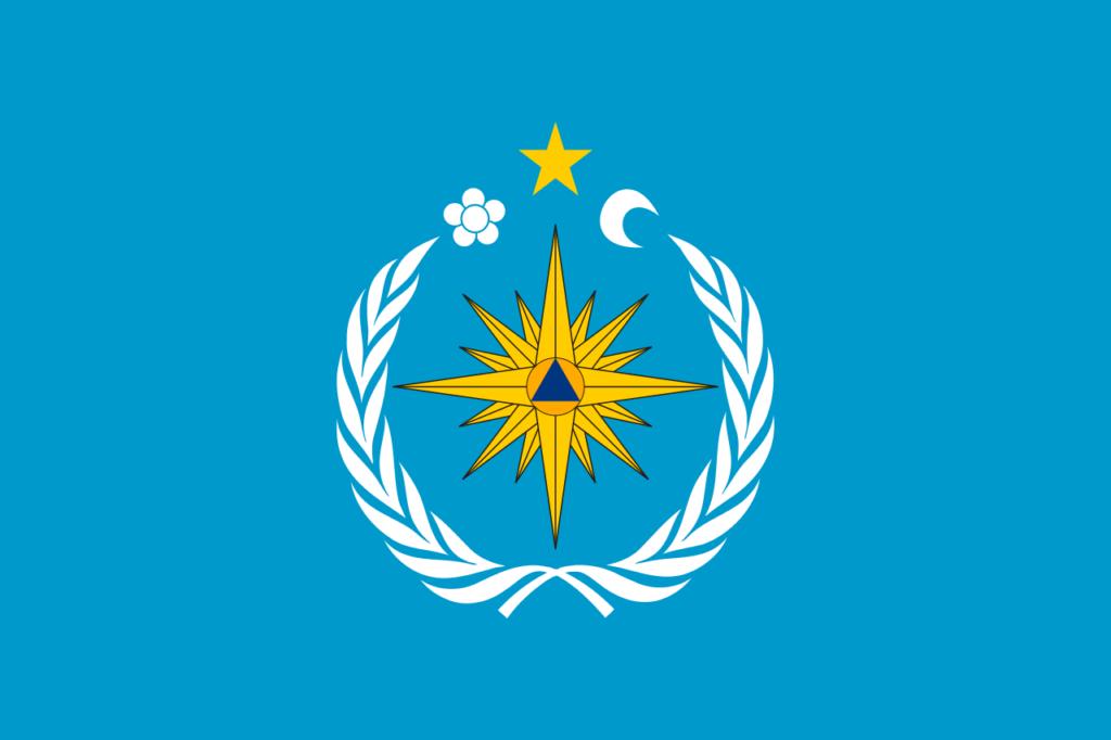 Флаг Департамента по делам Гражданской обороны и чрезвычайным ситуациям Молдавии