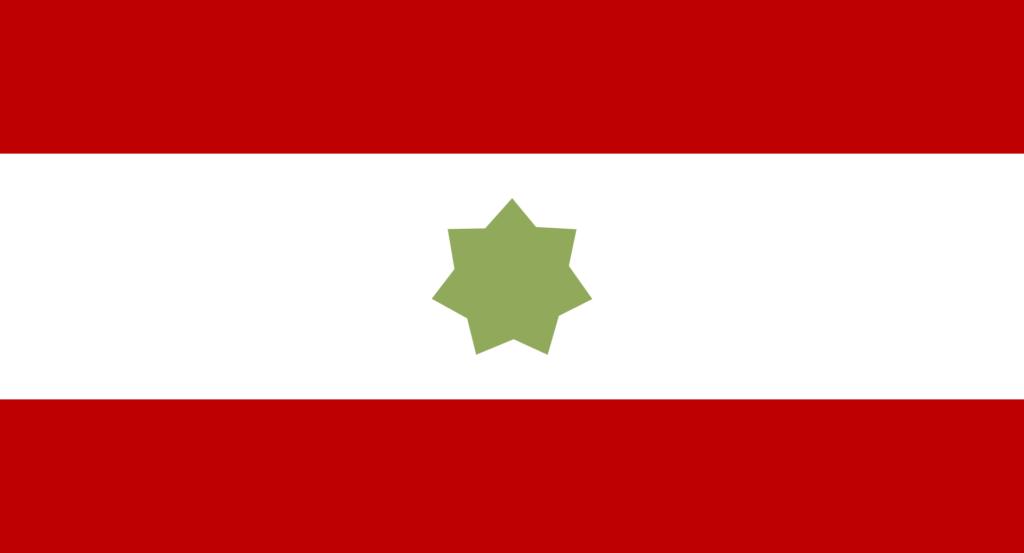 Флаг Договорного Омана (1820—1971) — предшественника ОАЭ