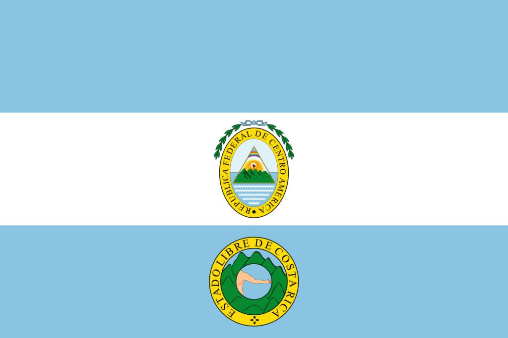 Флаг Коста-Рики (1824-1840)