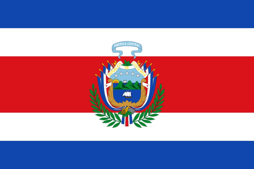 Флаг Коста-Рики (1848-1906)