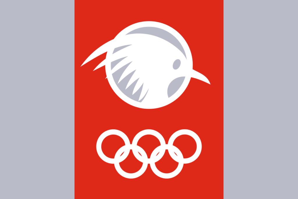 Флаг Новой Каледонии на Южно-тихоокеанских играх 2007 г.