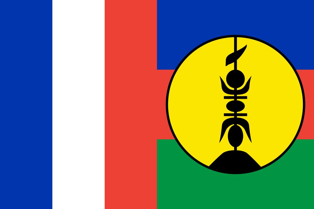 Флаг Новой Каледонии слитый с флагом Франции