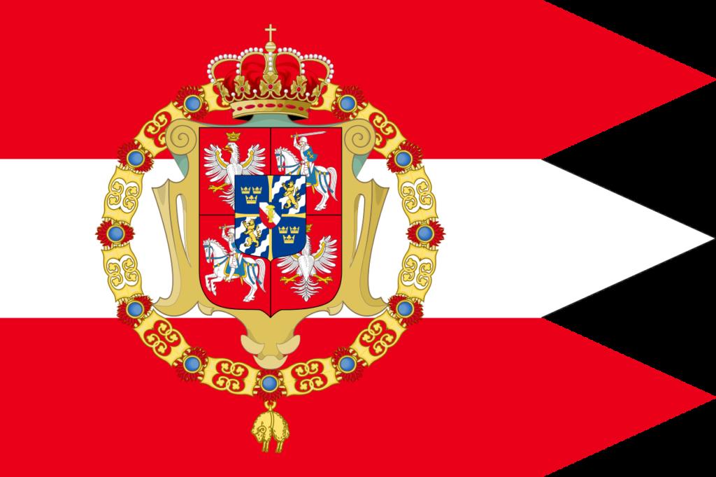 Флаг Речи Посполитой в период правления династии Васа, 1587—1668
