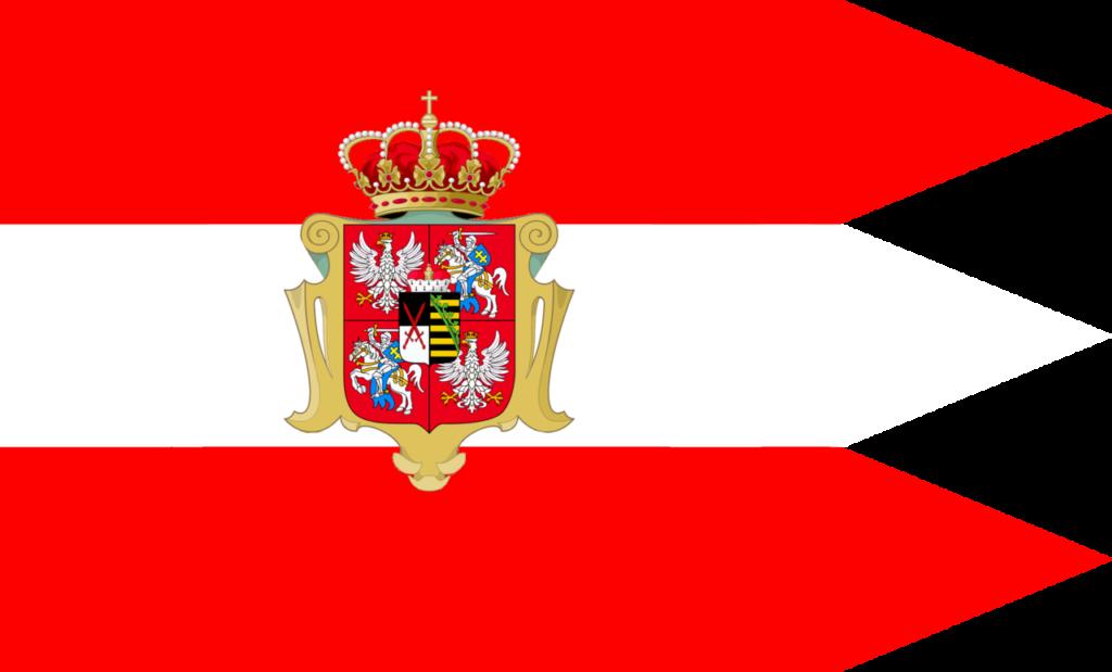 Флаг Речи Посполитой в период правления династии Веттинов, 1697—1763