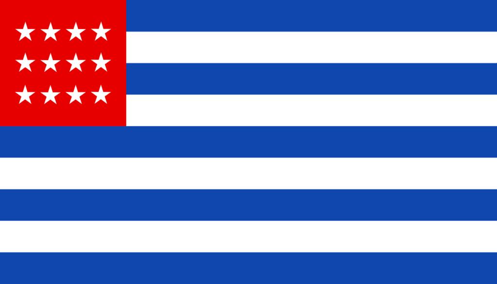 Флаг Сальвадора 1869—1873