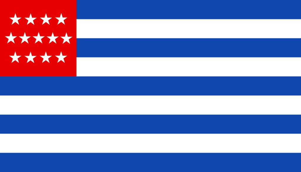 Флаг Сальвадора 1873—1877