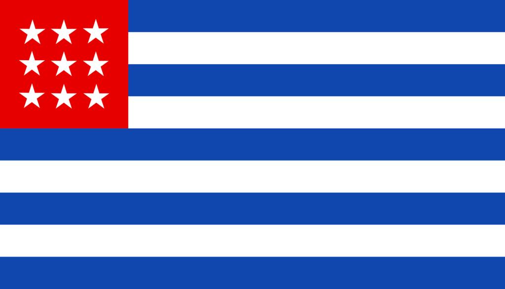 Флаг Сальвадора 9 мая 1865 — июнь 1865