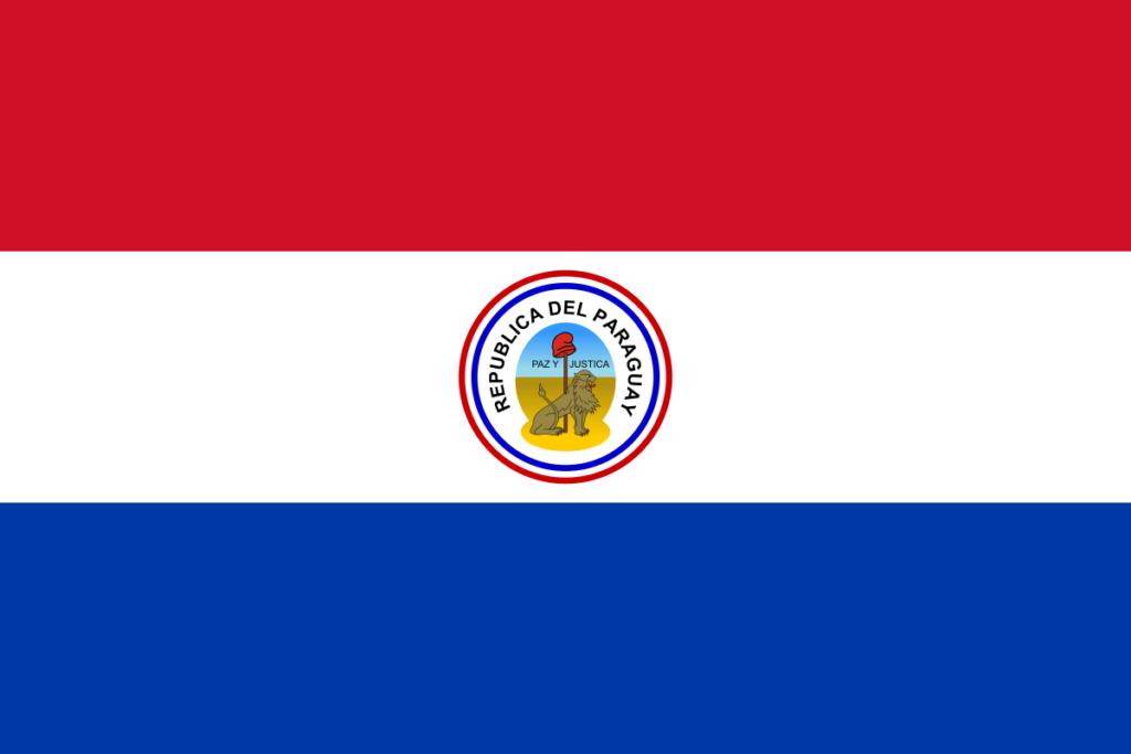 Обратная сторона флага Парагвая (1842-1954)