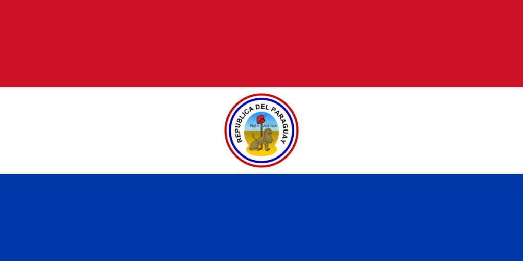 Обратная сторона флага Парагвая (1954-1988)