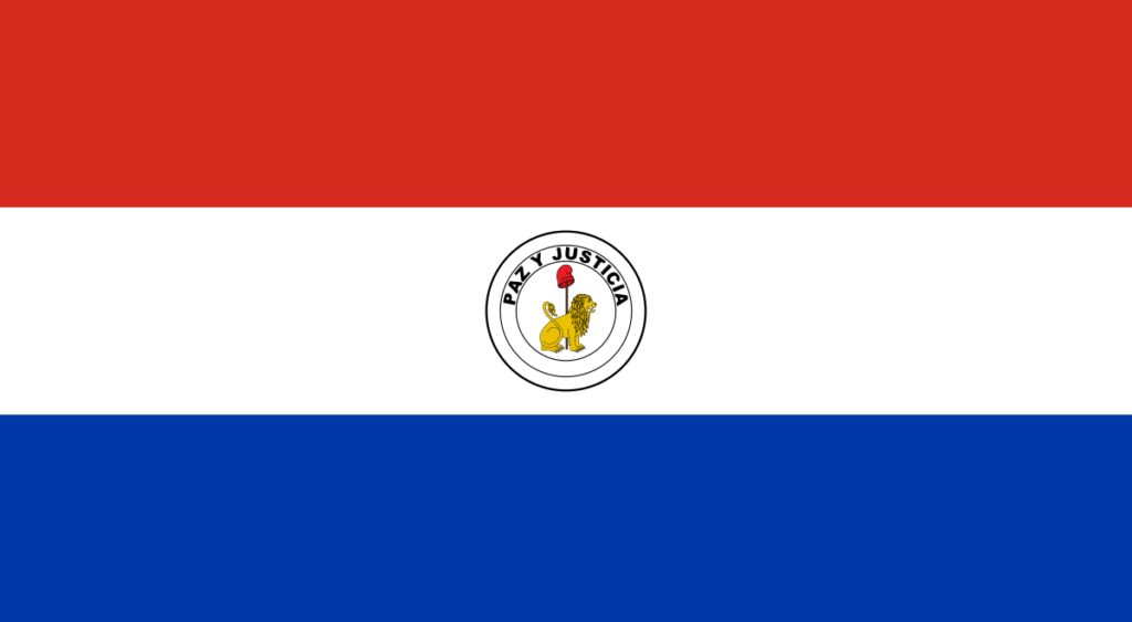 Обратная сторона современного флага Парагвая