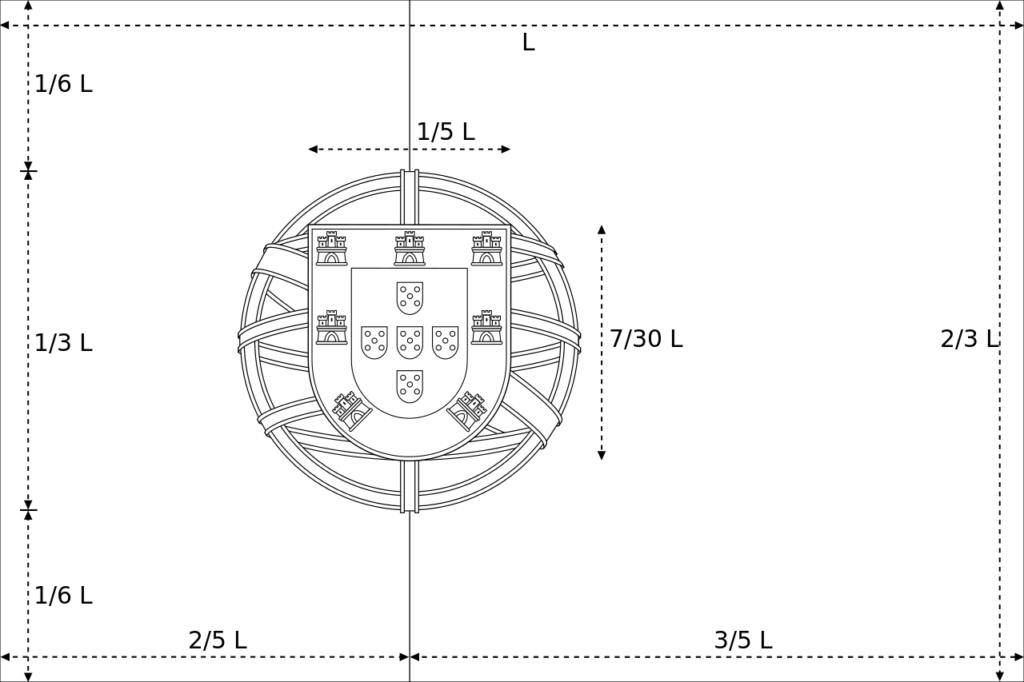 Схема флага с официальными размерами