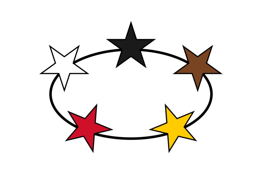 Флаг автономного Суринама в составе Королевства Нидерландов 14 марта 1966 — 25 ноября 1975