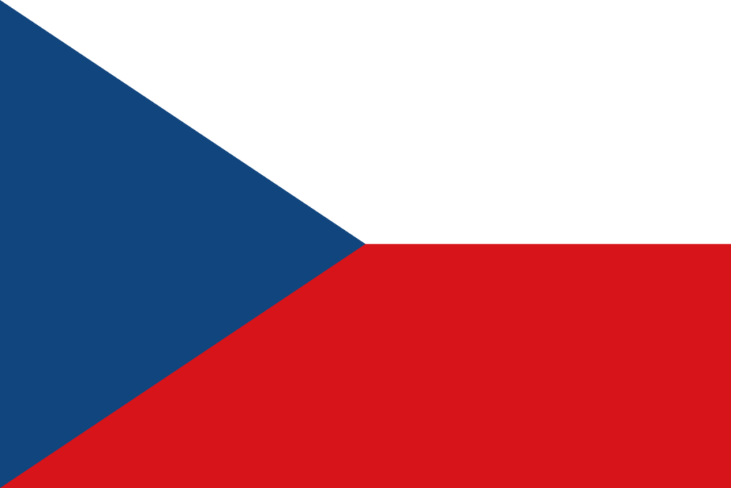 Флаг Чехословакии и современной Чехии
