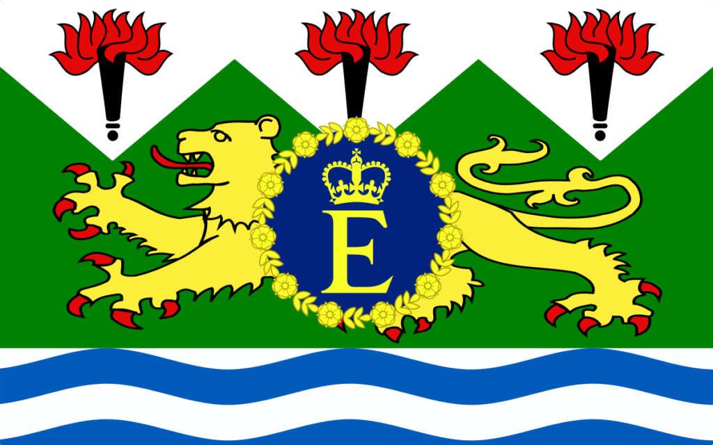 Флаг Елизаветы II для Сьера-Леоне