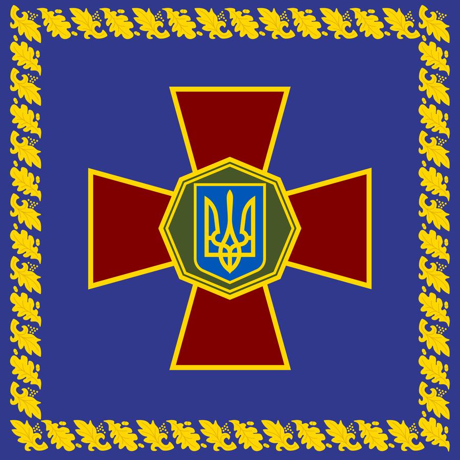 Флаг национальной армии Украины