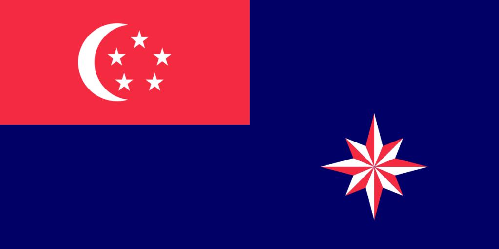 Флаг прапорщика военно-морских сил Сингапура