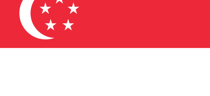 Флаг Республики Сингапур