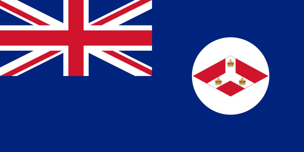 Флаг Стрейтс-Сетлментс (1874—1942)