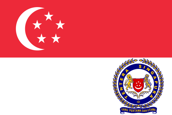Флаг вооруженных сил Сингапура