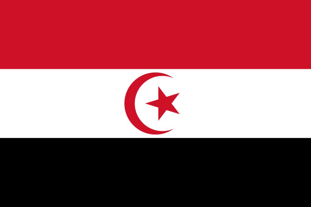 Флаг Арабской Исламской Республики согласно Тахару Белходже