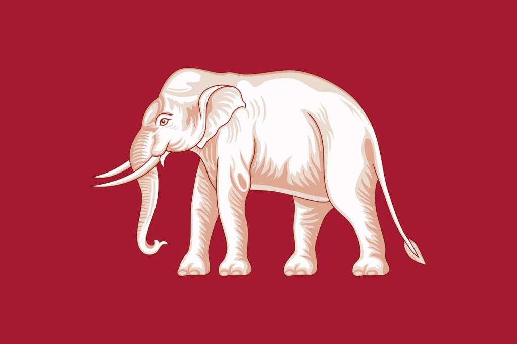 Флаг Таиланда 1855—1916 гг.