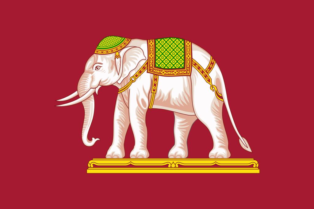 Флаг Таиланда - Сиам 1916